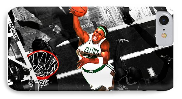 Paul Pierce In The Paint IPhone Case by Brian Reaves