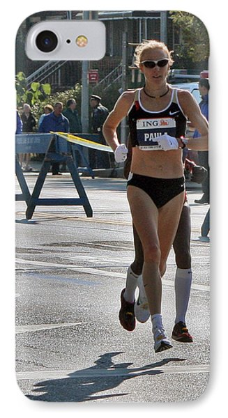 Paula Radcliffe Nyc Marathon IPhone Case by Terry Cork