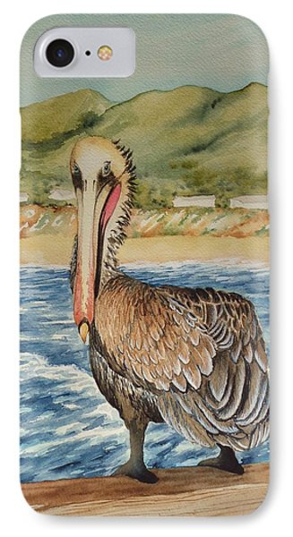 IPhone Case featuring the painting Paula's Pelican by Katherine Young-Beck