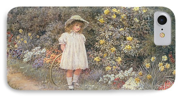 Pause For Reflection IPhone Case by Helen Allingham
