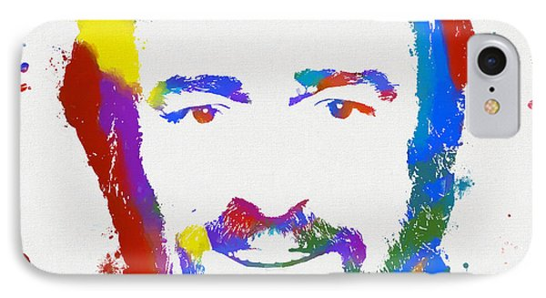 Pavarotti Colorful Paint Splatter Phone Case by Dan Sproul