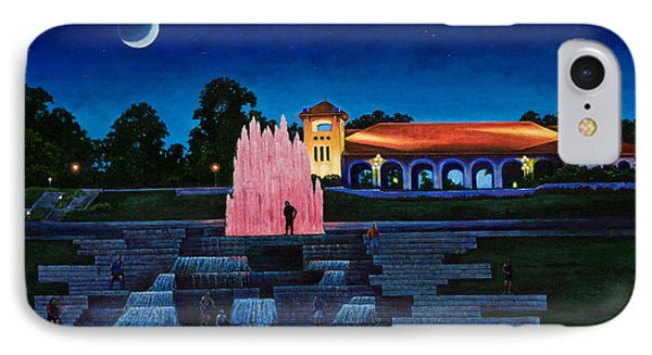 Pavilion Fountains IPhone Case by Michael Frank