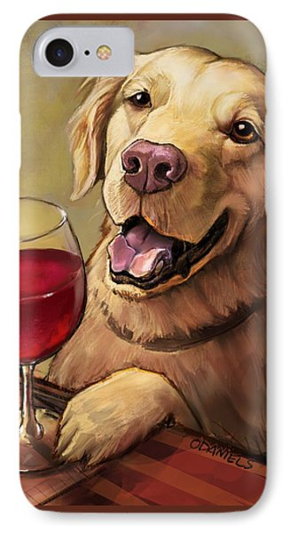 Paw'n For Wine IPhone Case by Sean ODaniels