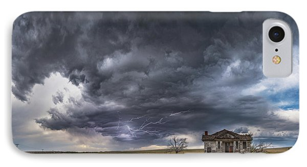 IPhone Case featuring the photograph Pawnee School Storm by Darren White