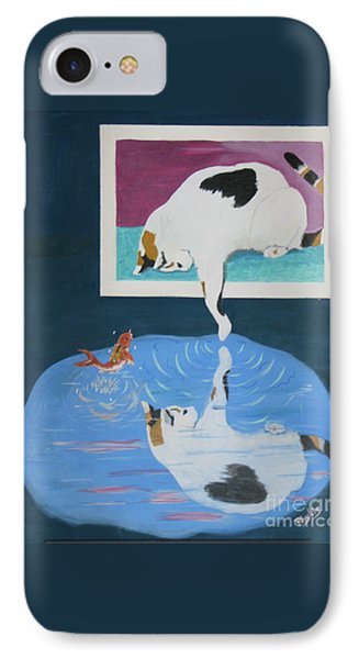 IPhone Case featuring the painting Paws And Effect by Phyllis Kaltenbach