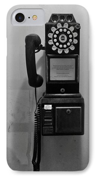 IPhone Case featuring the photograph Pay Phone by Bradford Martin