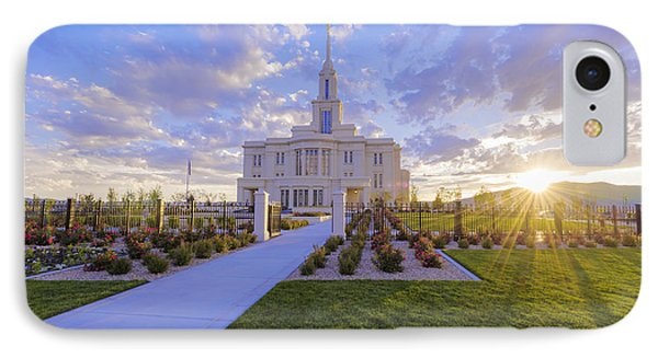 Payson Temple I IPhone Case by Chad Dutson