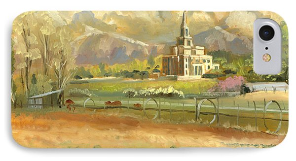 Payson Temple Plein Air IPhone Case