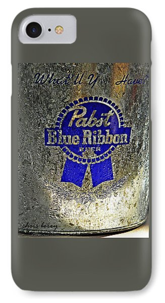 Pbr  Bucket O Beer  Phone Case by Chris Berry