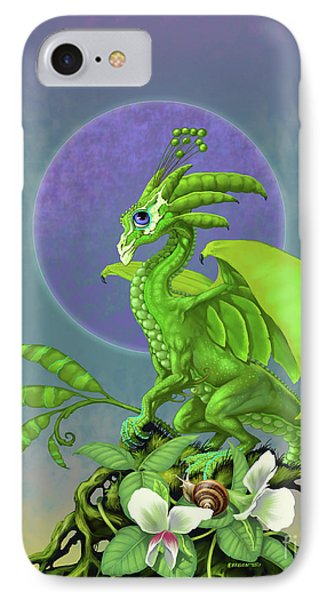 IPhone Case featuring the digital art Pea Pod Dragon by Stanley Morrison