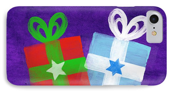 Peace And Joy- Hanukkah And Christmas Card By Linda Woods IPhone Case