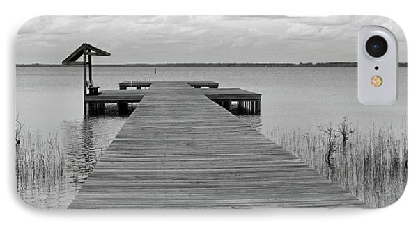 Peace And Serenity II-black And White IPhone Case by Suzanne Gaff