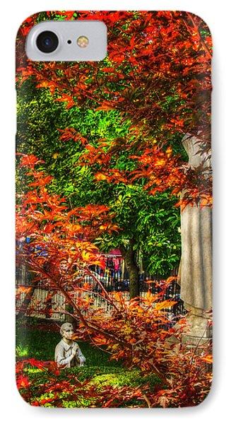 Peace Garden - St Leonard's Church - Boston IPhone Case by Joann Vitali