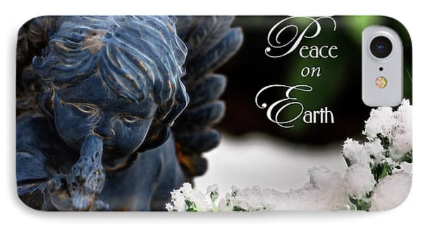 IPhone Case featuring the photograph Peace On Earth Angel by Shelley Neff