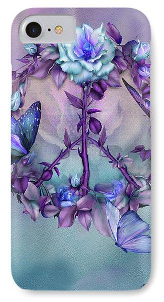 Peace Rose - Blue IPhone Case by Carol Cavalaris