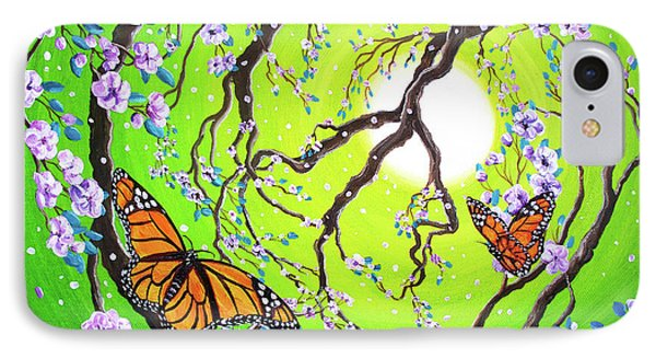 Peace Tree With Monarch Butterflies IPhone Case