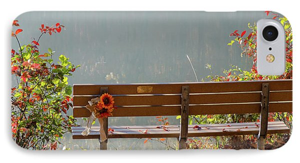 IPhone Case featuring the photograph Peaceful Bench by George Randy Bass