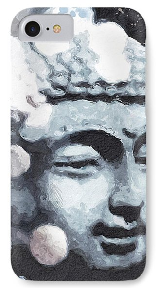 Peaceful Buddha 3- Art By Linda Woods IPhone Case by Linda Woods