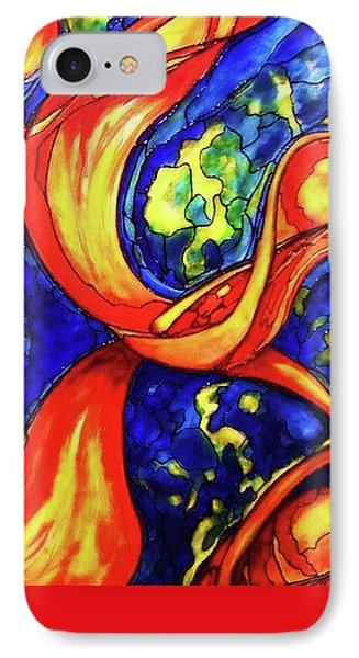 IPhone Case featuring the painting Peaceful Coexistence by Rae Chichilnitsky