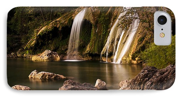 IPhone Case featuring the photograph Peaceful Day At Turner Falls by Tamyra Ayles