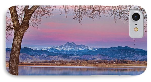 Peaceful Early Morning First Light Longs Peak View IPhone Case