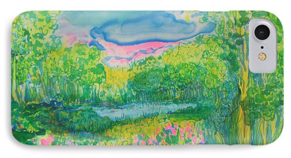 IPhone Case featuring the painting Peaceful Moments by Susan D Moody