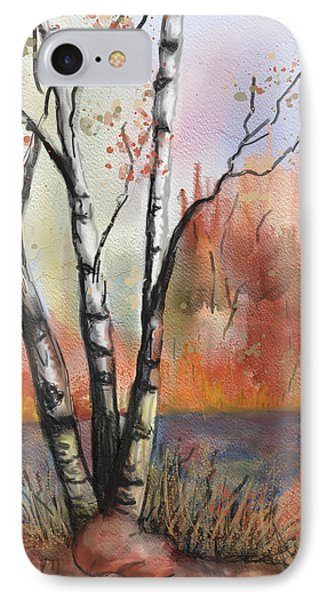 IPhone Case featuring the painting Peaceful River by Annette Berglund