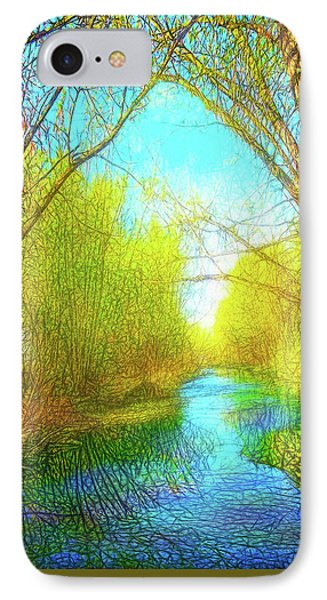 Peaceful River Spirit IPhone Case by Joel Bruce Wallach
