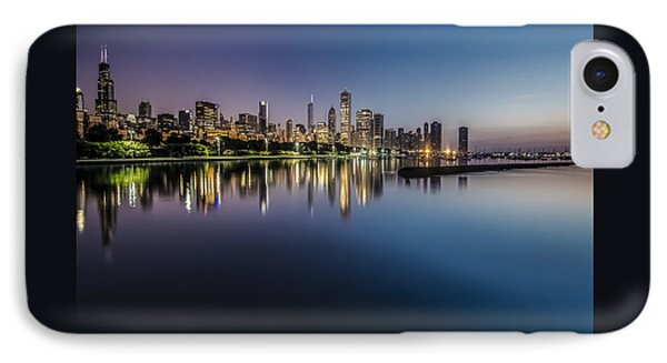 Peaceful Summer Dawn Scene On Chicago's Lakefront IPhone Case by Sven Brogren