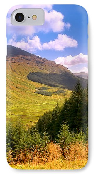 Peaceful Sunny Day In Mountains. Rest And Be Thankful. Scotland Phone Case by Jenny Rainbow