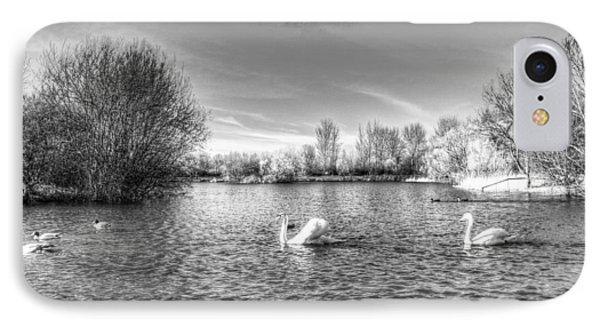 Peaceful Swan Lake IPhone Case by David Pyatt