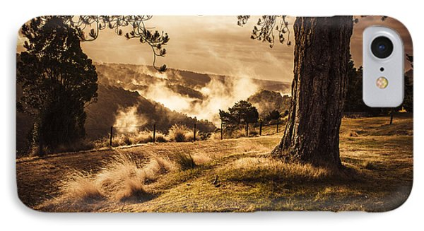 Peaceful Vintage Landscape Of A Rural Meadow IPhone Case