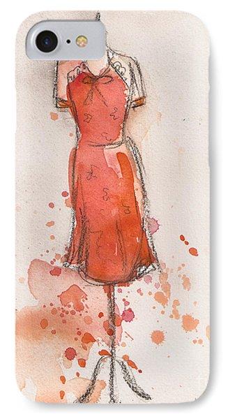 Peach And Orange Dress IPhone Case by Lauren Maurer