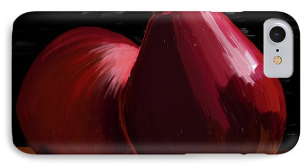 Peach And Pear 01 IPhone Case by Wally Hampton