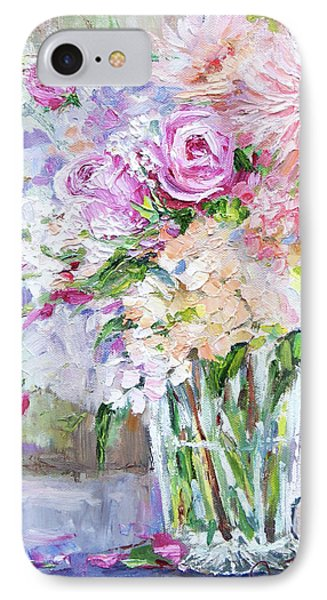 IPhone Case featuring the painting Peach And Pink Bouquet by Jennifer Beaudet