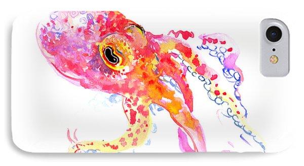 Peach Color Octopus IPhone Case by Suren Nersisyan