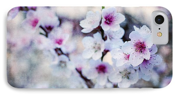 Peach Flowers IPhone Case by Laura Melis