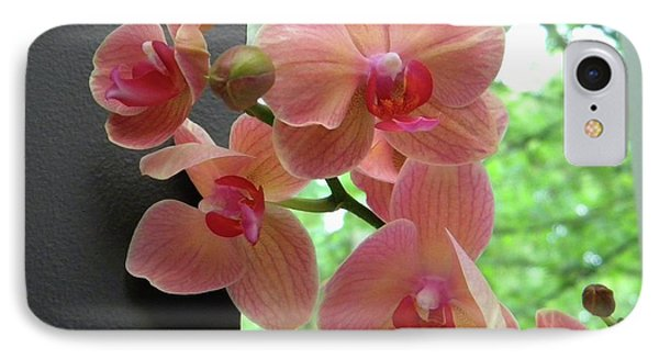 IPhone Case featuring the photograph Peach Orchids by Manuela Constantin