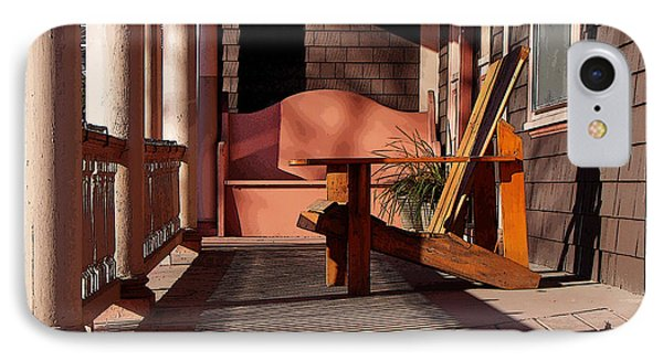IPhone Case featuring the photograph Peach Porch by Betsy Zimmerli