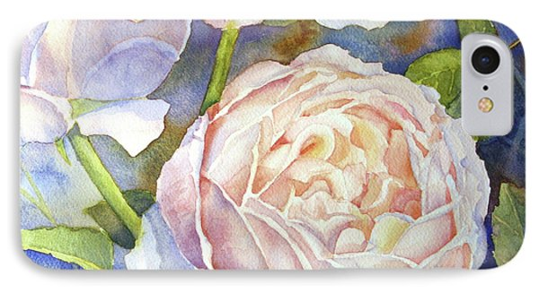 IPhone Case featuring the painting Peach Roses by Bonnie Rinier