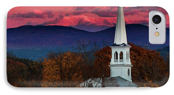 Peacham And White Mtn Sunset IPhone Case by Tim Kirchoff