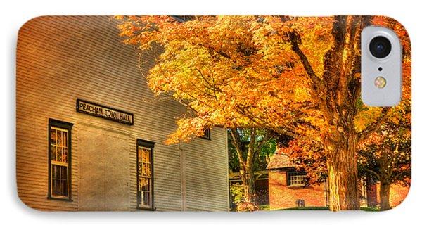 Peacham Town Hall - Vermont In Autumn IPhone Case