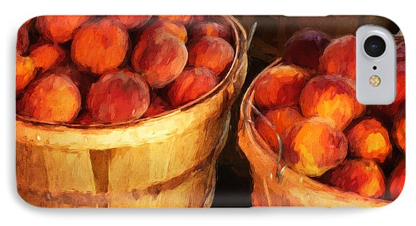 Peaches By The Bushel  IPhone Case by Clare VanderVeen