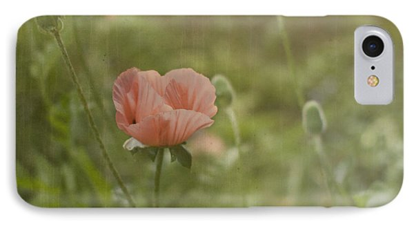 Peachy Poppies Phone Case by Rebecca Cozart