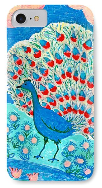 Peacock And Lily Pond IPhone Case