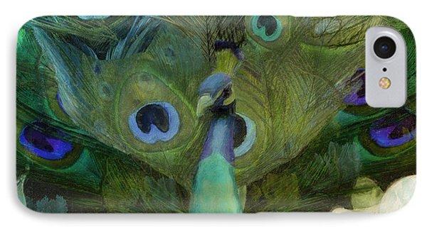 Peacock And Magnolia I IPhone Case