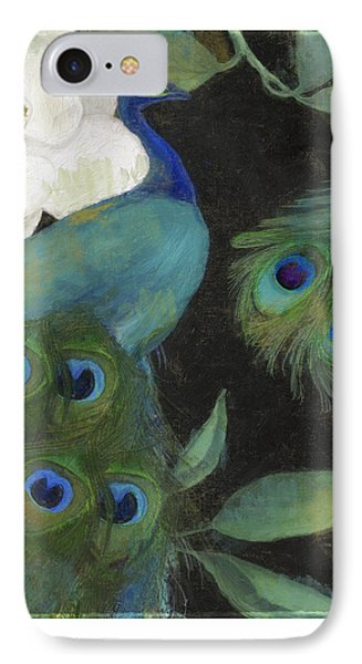 Peacock iPhone 7 Case - Peacock And Magnolia II by Mindy Sommers