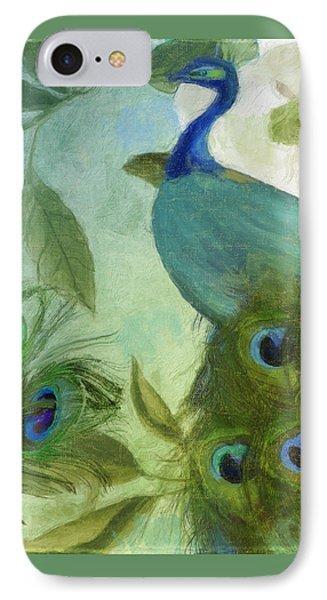 Peacock And Magnolia IIi IPhone Case