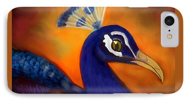 Peacock Cafe Digi IPhone Case