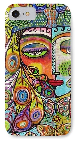 Peacock Emerald Lovebirds Goddess IPhone Case